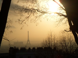 The Eiffel Tower - viewed from Montmartre. Photo by Jacob Cigainero