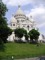 Sacre Coeur Basilica - just a two-minute walk from the apartment