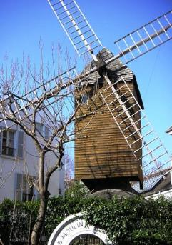 The Moulin de la Galette windmill