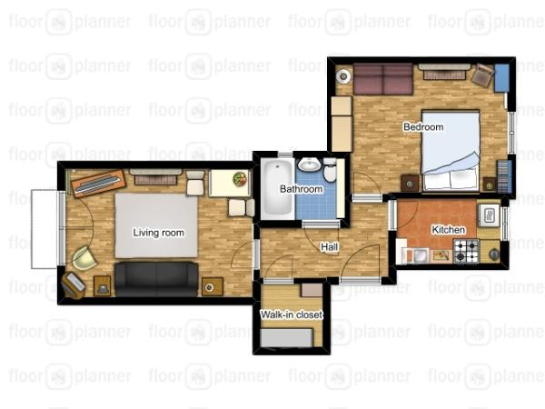 The floorplan of the flat